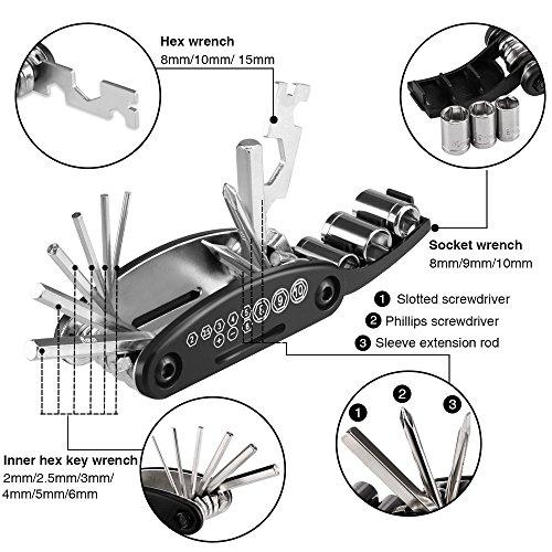 Hommie Bicycle Repair Bag, Set Bike Repair Tools 7 in 1 Kits by Hommie (Image #1)