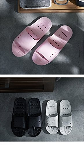 Black Female Indoor Bathroom Thick Anti Slippers Slippers Male Slip TELLW Cool Home Bottom for Men Summer BqC0U