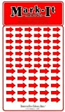 Removable Mark-it brand arrows for maps, reports or projects, two sizes per sheet - red