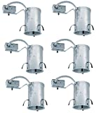 Juno Lighting (Pack of 6) IC20R 5-Inch IC Rated Remodel Universal Recessed Light Housing - Versatile, Efficient and Economic Lighting