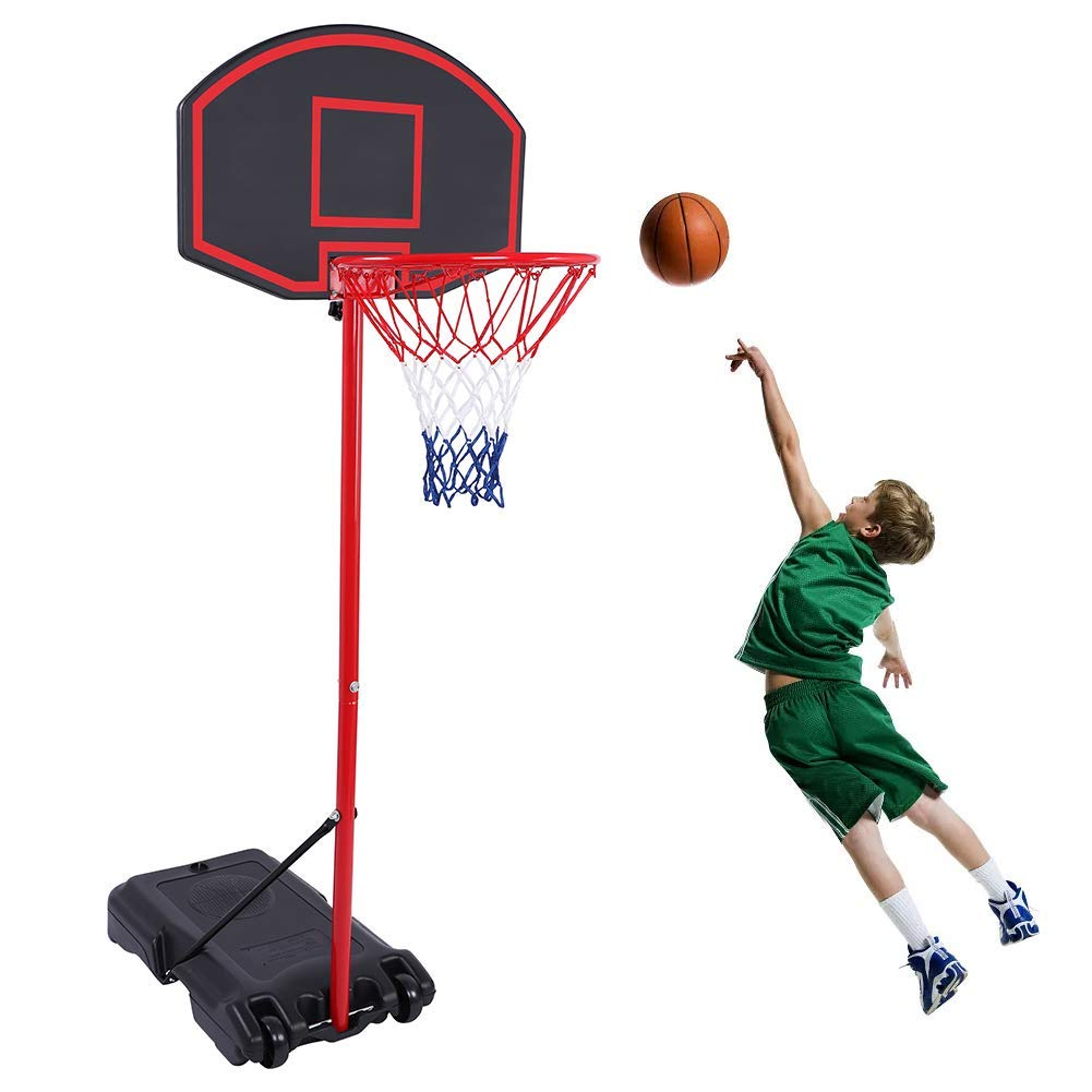 GreenGee Portable Basketball Hoop Portable Mini Basketball Hoop System for Kids(US Stock) Height Adjustable(5.8-7.4 ft) Basketball Hoop Indoor Outdoor Basketball Hoop System