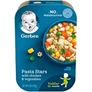 Gerber Pasta Stars with Chicken & Vegetables, 6 Ounce (Pack of 6)