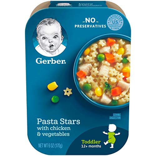 Gerber Graduates Lil' Meals, Pasta Stars with Chicken and Vegetables, 6 Ounce (Pack of -