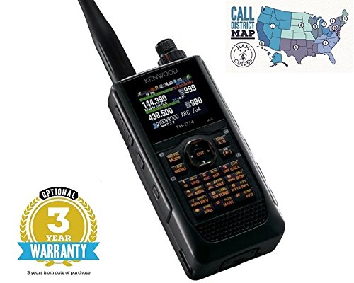 Kenwood Original TH-D74A 144/220/430 MHz, 5W Triband With APRS and D-Star Handheld Transceiver W/ 3 Year Warranty and Ham Guides TM Pocket Reference Card Bundle …