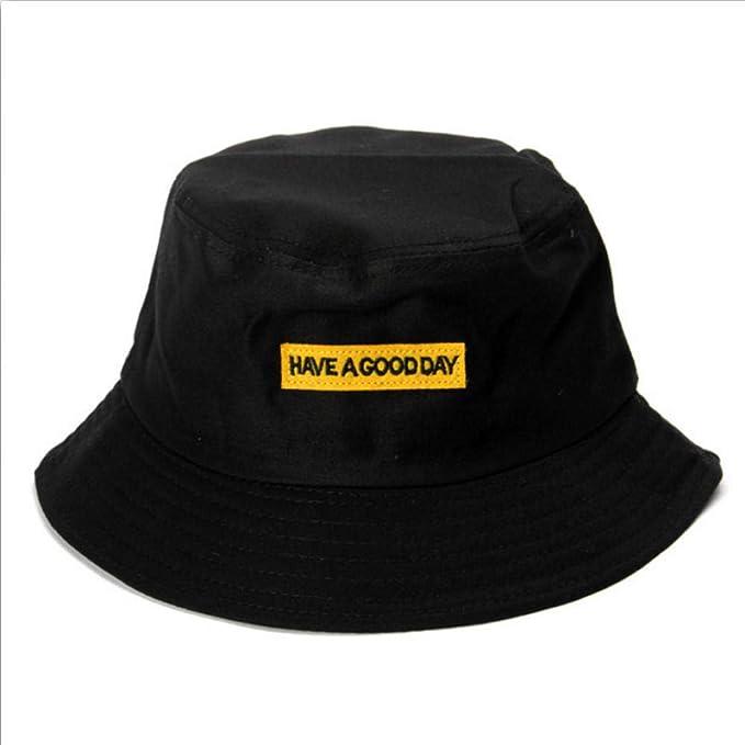 Sombreros/Gorras Bordado de Primavera Carta Cubo Sombrero ...