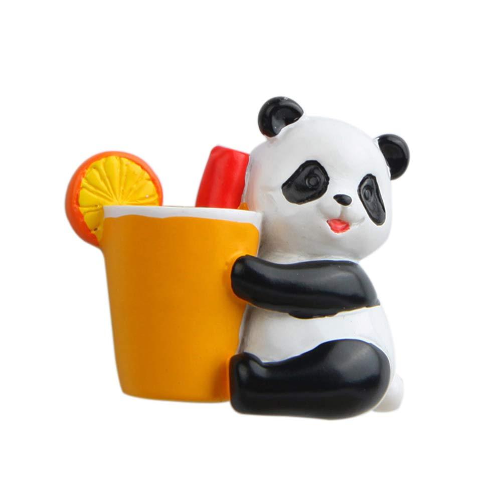 Pu Ran 1PC Carino Morbido Peluche Panda Magnete del Frigorifero Sticker Souvenir Decor Gift, 1#