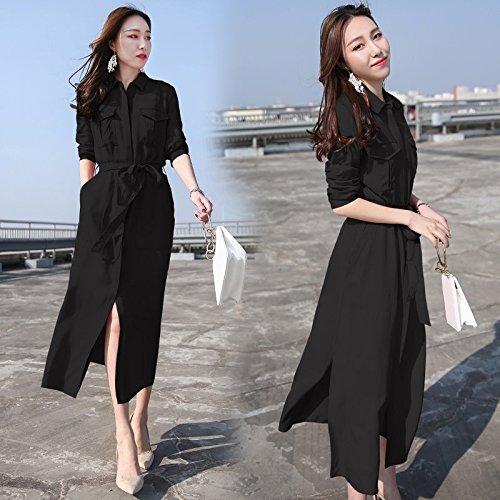 L Robes Black Femme mare lache Plus Chaussettes MiGMV temprament Robe Long Fendue Jupe FqU7RPa