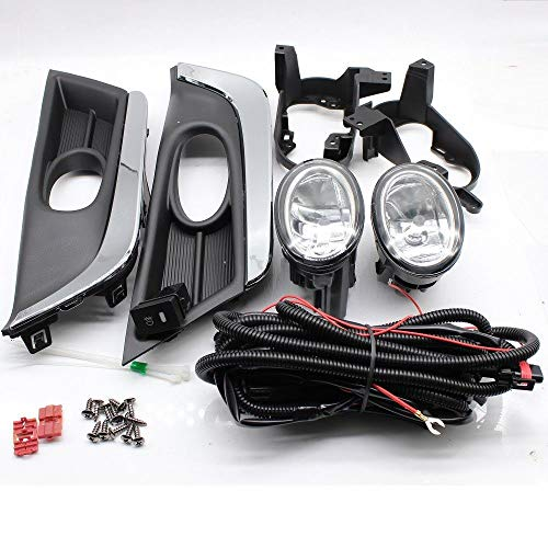 NEW Honda CRV Fog Lights Kit, Fits 2017-2018 Honda CR-V Bumper Fog Lights Kit Driving Light Left+Right (US Stock) (Light Honda Relay Fog)
