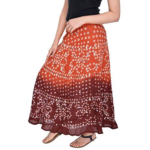 Soundarya - Jupe - Femme orange Orange