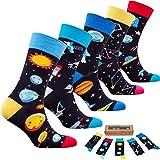 Socks n Socks-Men 5 pk Colorful Cotton Novelty Science Space Sock Gift Box