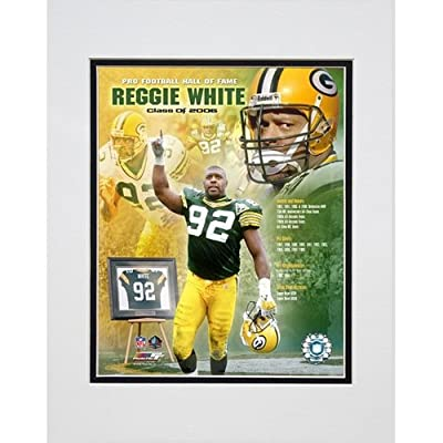 Photo File Green Bay Packers Reggie White Hall of Fame Matted Photo