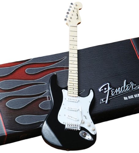 Axe Heaven FS-002 Fender Strat Classic Black Finish Minaiture Guitar Replica by AXE HEAVEN