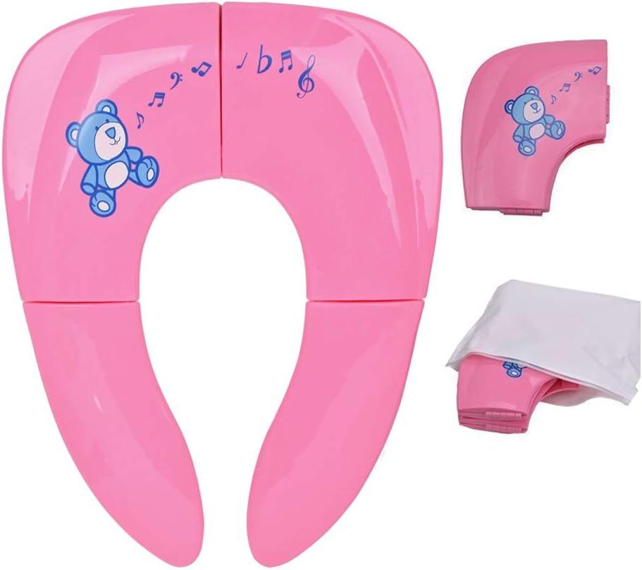 Arikaree R/éducteur de WC pour enfant et fille pliable portable avec /échelle facile /à utiliser table Water pour enfants chaise avec marches bleu