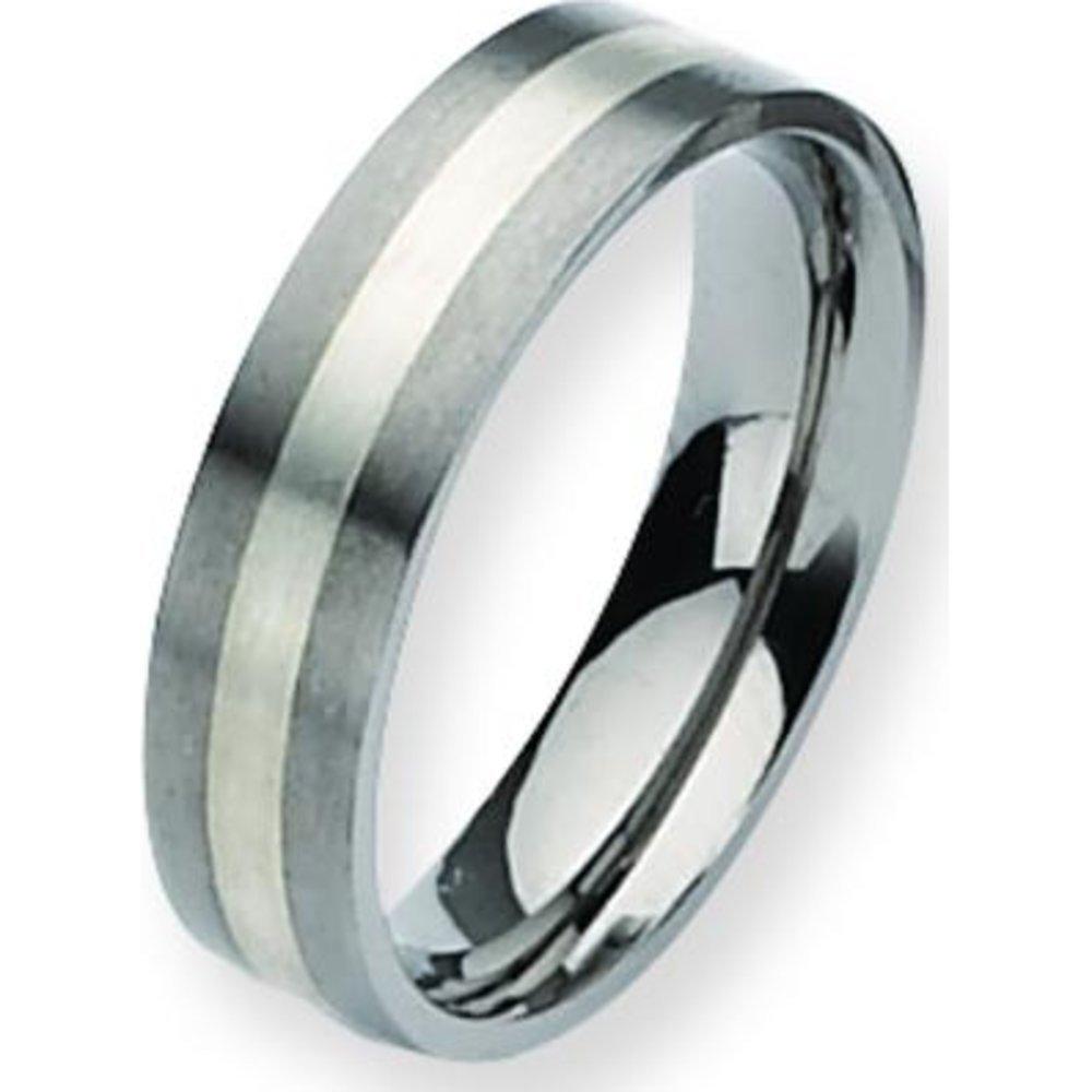 Titanium SS 6mm Satin Mens Wedding Ring Band Sz 12.5