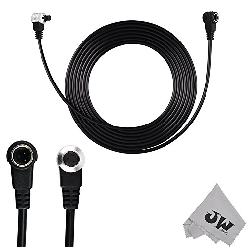 JW CABLE-AF2AM N3 Remote Extension Cord Cable For Canon EOS 5DS R 1Ds 1D 5D 7D Mark II 1D 5D Mark III SLR Cameras To TC-80N3 RS-80N3 Replaces Canon ET-1000N3+JW Cleaning Cloth