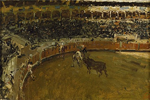Oil Painting 'Fortuny Marsal Mariano Corrida De Toros Ca. 1869' 10 x 15 inch / 25 x 38 cm , on High Definition HD canvas prints is for Gifts And Kids Room, Nursery And Powder Room Decoration (Spring Step Allegra)