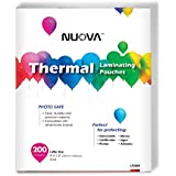 """Nuova Premium Thermal Laminating Pouches, 9"""" x 11.5""""/Letter Size/3 mil, 200 Pack (LP200H)"""