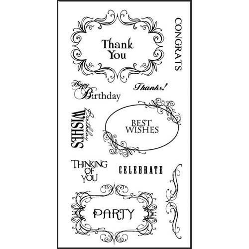 Inkadinkado 97629 Expressions & Frames Clear Stamp Set_97629 Frames Clear Stamp Set