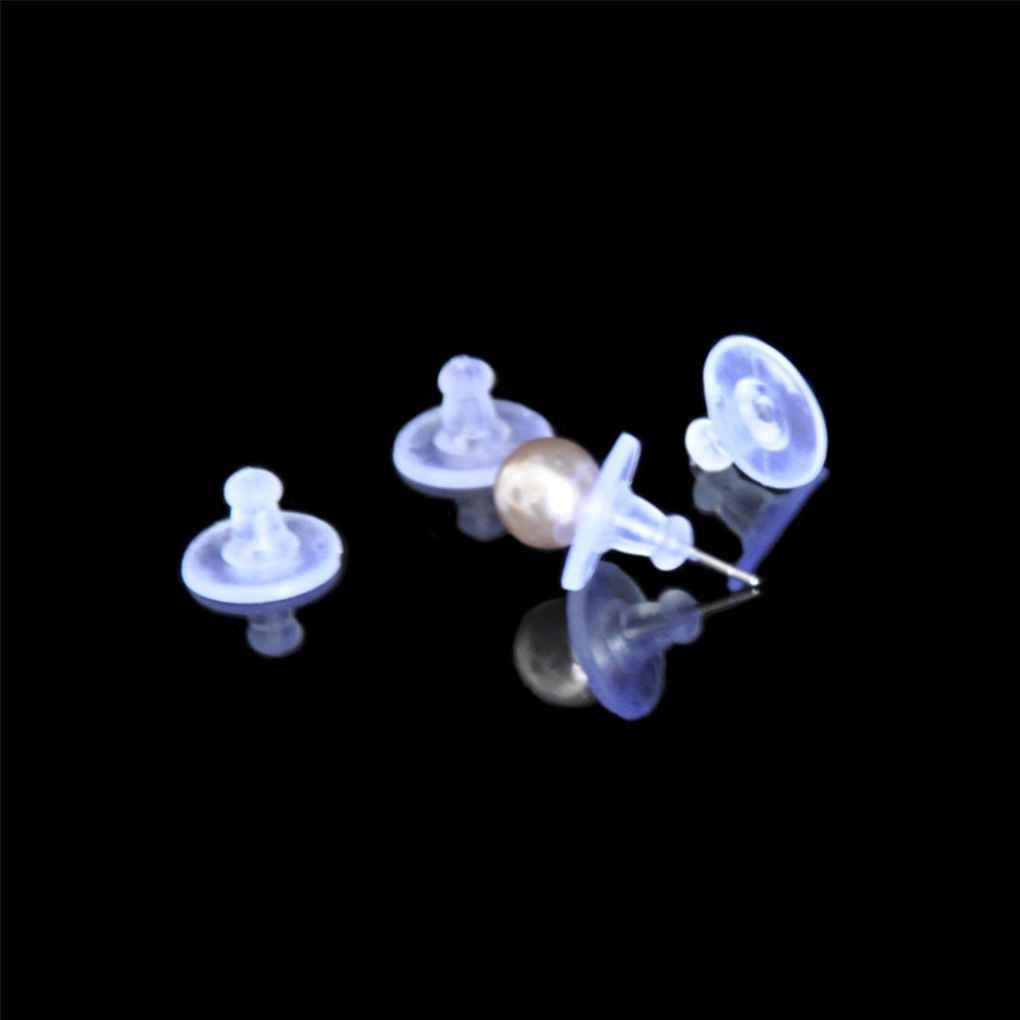Level Great 100pcs Silicone Trasparente Posteriore dellorecchino Spine Tappi Orecchio sul Post Dadi delle Donne Ragazze Gioielli