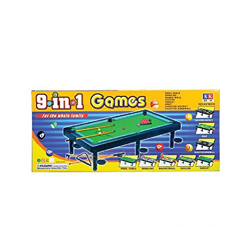 Plastic 9 In One Game Set by Bargain World