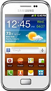 "Samsung Galaxy Ace Plus GT-S7500 4GB Color blanco - Smartphone (9,27 cm (3.65""), 320 x 480 Pixeles, TFT, 1 GHz, 4 GB, microSD (TransFlash))"