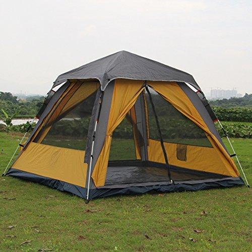 マークされたレビュー伝導率QFFL zhangpeng テント自動防水テント二重層フリースピードテント屋外3-4キャンプテント2色オプション210 * 210 * 145センチメートル トンネルテント ( 色 : カーキ )
