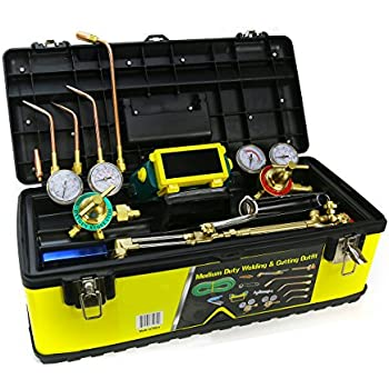 Medium Duty Outfit Welding Kit Victor Type HD Stainless Steel With Case
