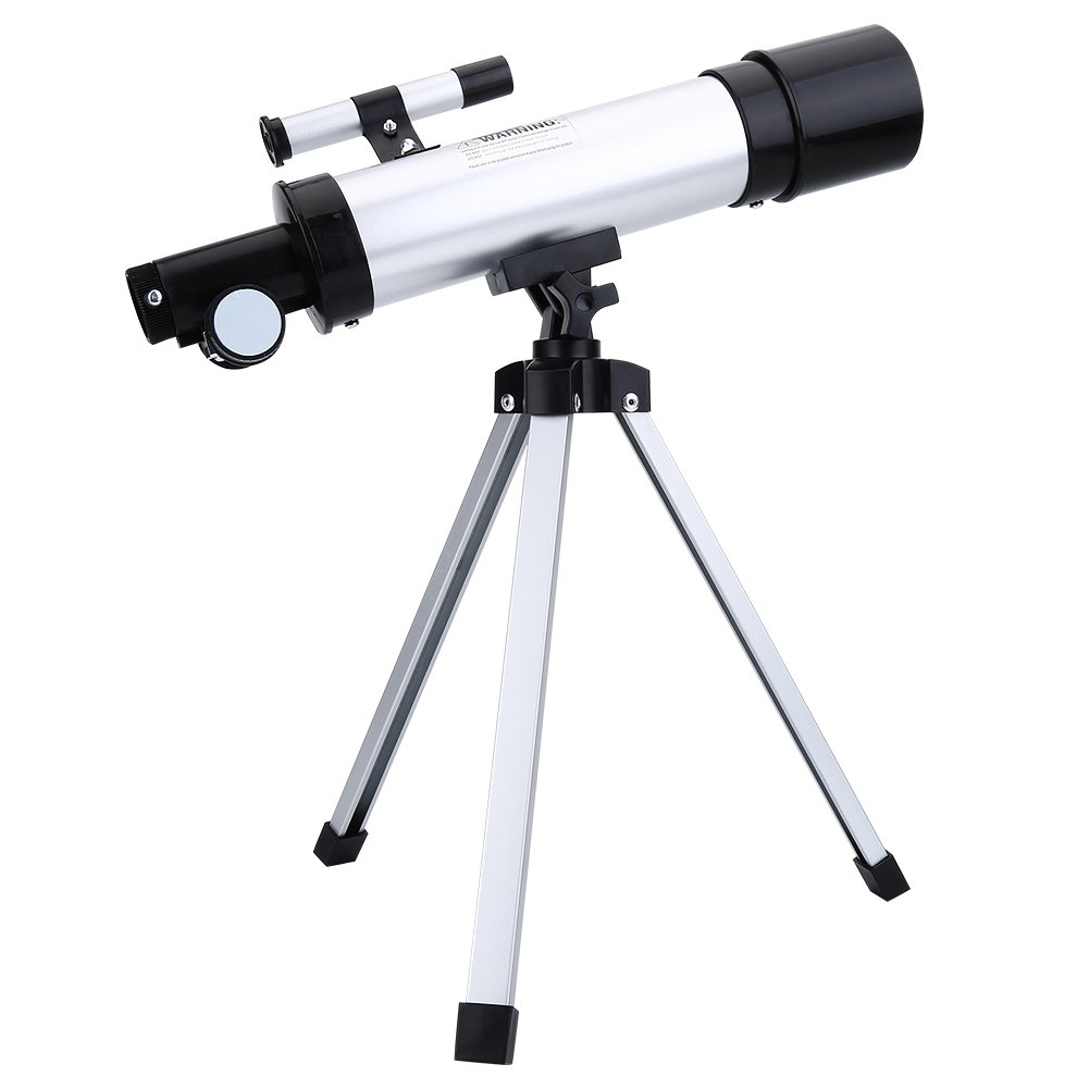 90X 50mm HD Monocular Telescope, 360mm.f/7 Telescope Astronomical Refractive Space Scope Refractor with Tripod, Barlow Eyepiece, H6MM Eyepiece, H20MM Eyepiece by Tangxi