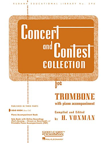 Concert and Contest Collections: Trombone - Solo Part (Rubank Educational Library)