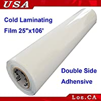Double Sided Adhensive Pressure Sensitive Laminating Mount Film 25x106 Roll