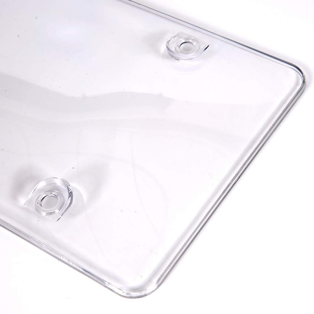 Back License Plates Screws Included Unbreakable Frame Covers to Protect Front Car License Plates Shields1 Pack Clear Bubble Design Novelty Plate Covers to Fit Any Standard US Plates