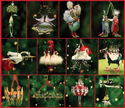 amazoncom patience brewster 12 days of christmas 9 drummers ornament krinkles christmas dcor new 08 30347 home kitchen - 12 Days Of Christmas Decorations