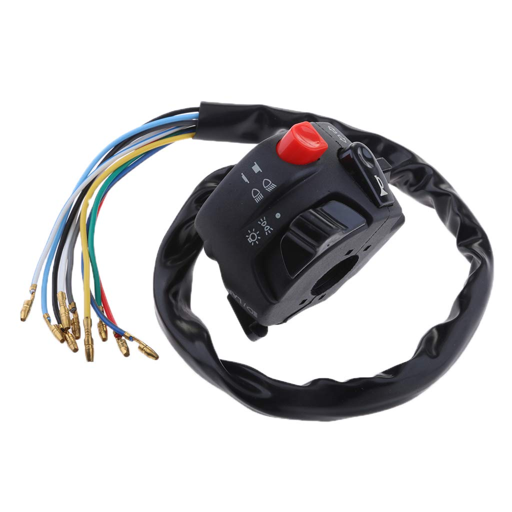 MagiDeal Motorcycle Universal 7/8' Handlebar Horn/Signal Lights Control Switch Assy