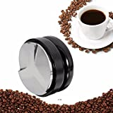 Raza 58mm Adjustable Smart Coffee Tamper Base With Three Angled Slopes Handmade Coffee Bean Hammer Flat Base Espresso Press