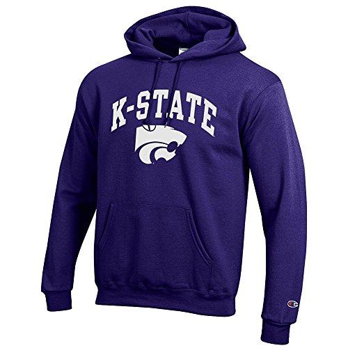 Elite Fan Shop NCAA Kansas State Wildcats Men's Team Color Hoodie Sweatshirt, Purple, Large