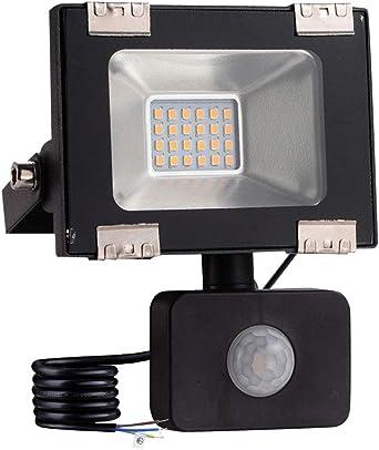 Foco led exterior con Sensor Movimiento de alto brillo 10000lm ...