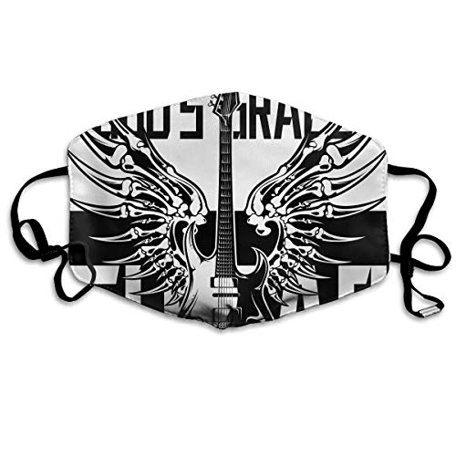 SDQQ6 Amazing Guitar Sing The Song God's Grace Mouth Mask Unisex Printed Fashion Face Mask Anti-dust Masks