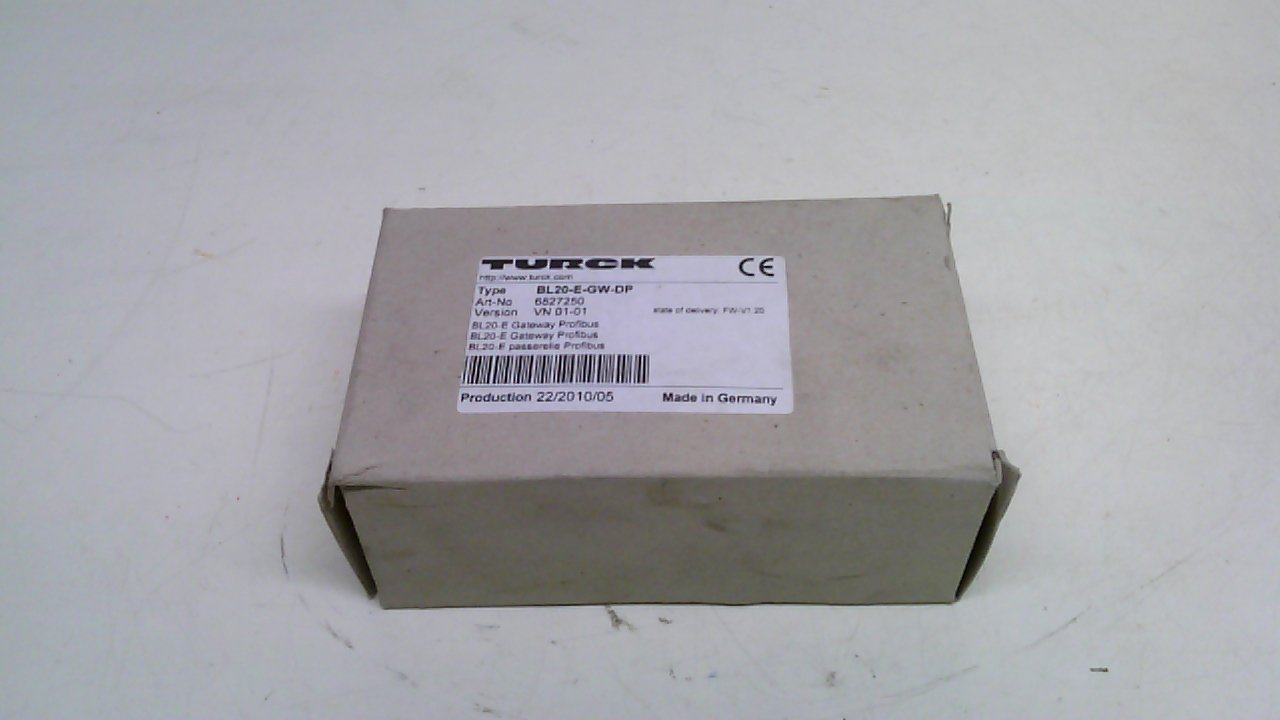 Turck Bl20-E-Gw-Dp Gateway-Bl20 I//O System//Profibus Interface 6827250 Bl20-E-Gw-Dp