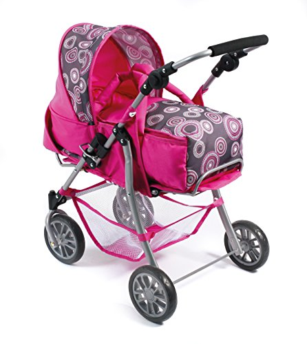 Bayer Chic 2000 590 87 - Kombi-Puppenwagen Exchange, hot pink pearls