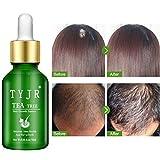 Zhengpin Tea Tree Hair Growth Essence Anti-Hair Loss Serum Nourishing Scalp Accelerate Hair Growth For Thinning Hair, Thickening & Regrowth Product, Fast Hair Growth Serum Support For Men & Women (10ML)