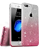 iphone 4 case incipio edge - iPhone 7 Plus / iPhone 8 Plus Case, [Anti-Discoloration, Durable TPU Rubber] Twinkling Soft Stylish Design with Shiny Sparkling Glitter Stars