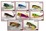 Akuna Pack of 8 Top Dog Series 2.4 inch Topwater Popper Fishing Lure [BP 8 FLA 48 X] For Sale