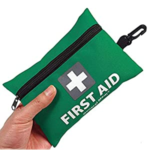 General Medi Mini First Aid Kit,92 Pieces Small First Aid Kit – Includes Emergency Foil Blanket, Scissors for Travel…