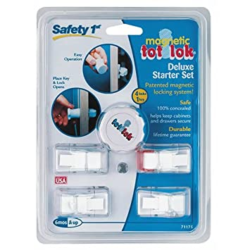 Amazon.com : Safety 1st Magnetic Tot Lok Complete Set : Cabinet ...