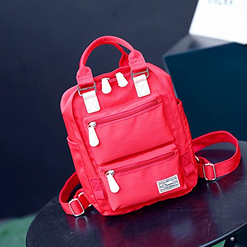 Mochila de Nylon repelente al agua las alumnas de pequeñas mochilas escolares mini mochila gules gules
