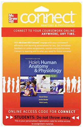 Connect with LearnSmart 2 Semester Access Card for Hole's Human Anatomy and Physiology -  Shier, Hardcover