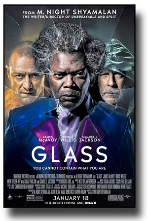 Glass Poster Movie Promo 11 x 17 inches James McAvoy Bruce Willis Samuel Jackson Main (Bruce Willis Poster)