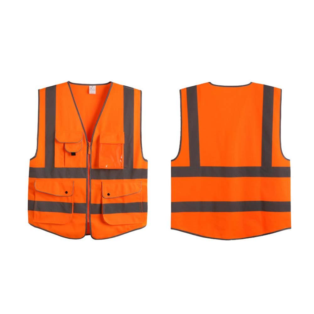 Extaum Warnweste Arbeitskleidung Hohe Sichtbarkeit Tag Nacht Laufen Radfahren Warnung Sportbekleidung Sicherheitsweste f/ür Kinder Frauen M/änner