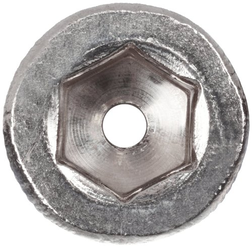Internal Hex Drive Pack of 10 Plain Finish Small Parts Vented Fully Threaded M4-0.7 Metric Coarse Threads Flat Head 18-8 Stainless Steel Socket Cap Screw 8mm Length
