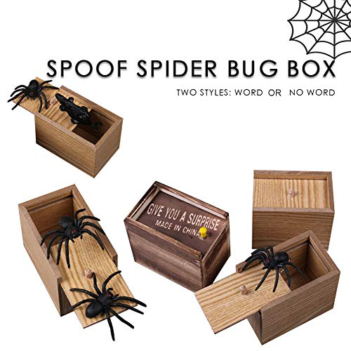 sJIPIIIk552 Creative Prank Scare Wooden Box Toys Halloween Horror Surprise Decoration Gift Random Style]()